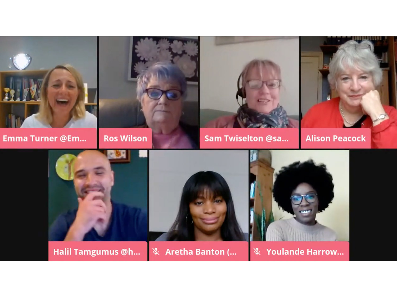 5 years launch blog speakers onscreen